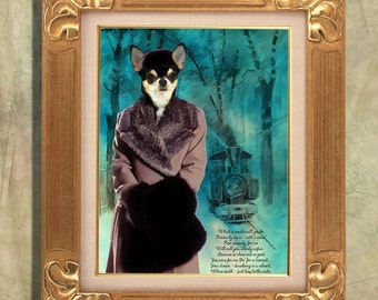 Chihuahua Art Print 11 x 14 inch original illustration artwork giclee archival premium poster print By Nobility Dogs
