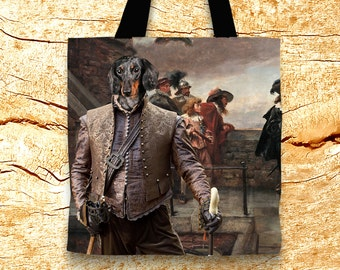 Dachshund Tote Bag   Doxie Giftby Nobility Dogs Arts