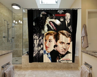 Borzoi Art Shower Curtain, Dog Shower Curtains, Bathroom Decor - Suspicion Movie Poster  Perfect CHRISTMAS Gift SALE 25 off Free Shipping