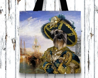 Miniature Schnauzer Tote Bag  by Nobility Dogs Arts