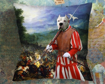 Christmas Gifts Dogo Argentino Art Pillow    Dog Lover  by Nobility Dogs Arts