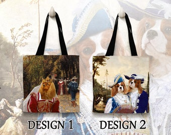 Christmas Gifts Cavalier King Charles Spaniel Tote Bag   by Nobility Dogs Arts
