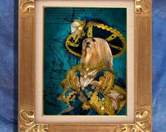 Lhasa Apso Art Print 11 x 14 inch original illustration artwork giclee archival premium poster print By Nobility Dogs