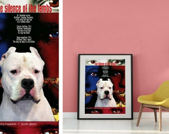 Dogo Argentino Art The Silence of the Lambs Movie Poster by Nobility Dogs