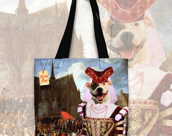 Staffordshire Bull Terrier Art Tote Bag  by Nobility Dogs Arts