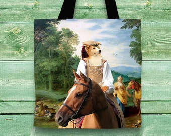 Border Collie Art Tote Bag  by Nobility Dogs Arts
