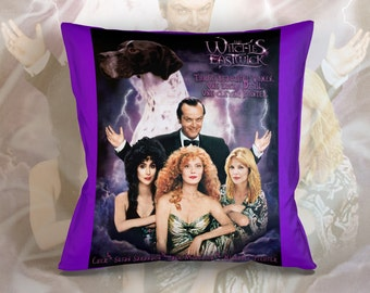 English Pointer Art Pillow    The Witches of Eastwick Movie Poster   by Nobility Dogs
