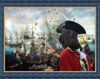 """Giant Schnauzer Art """"Battle of Gibraltar"""" Canvas Print  by Nobility Dogs"""
