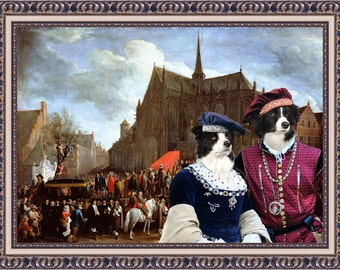 Border Collie Art Canvas Print Dog Lover Christmas Gift by Nobility Dogs