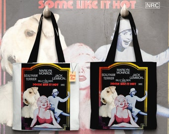 Sealyham Terrier Art Tote Bag   Some Like It Hot Movie Poster by Nobility Dogs