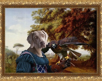 Weimaraner Art Canvas Print Dog Lover  Gifts by Nobility Dogs