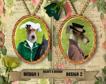 Wire Fox Terrier Jewelry Handmade Gifts by Nobility Dogs