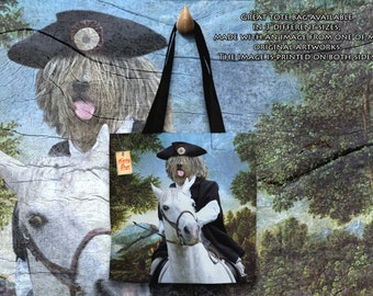 Bergamasco Art Tote Bag  by Nobility Dogs Arts