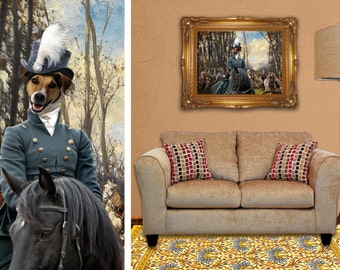 Jack Russell Terrier or Parson Russell Terrier Canvas Print Dog Lover  Gifts by Nobility Dogs