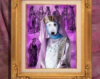 Bull Terrier Art Print 11 x 14 inch original illustration artwork giclee archival premium poster print By Nobility Dogs