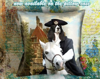 Christmas Gifts Dog Pillow English Springer Spaniel Art Dog Lover  by Nobility Dogs Arts