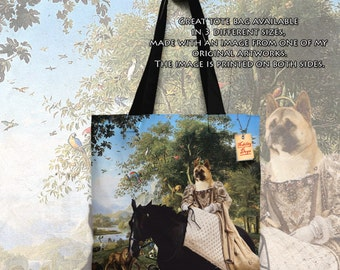 American Akita Art Tote Bag  by Nobility Dogs Arts