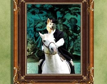White Shepherd Print Art Print 11 x 14 inch original illustration artwork giclee archival premium poster print By Nobility Dogs