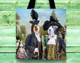 Bearded Collie Art Tote Bag    by Nobility Dogs Arts