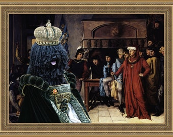 Puli Dog Art Canvas Print Dog Lover  Gifts by Nobility Dogs