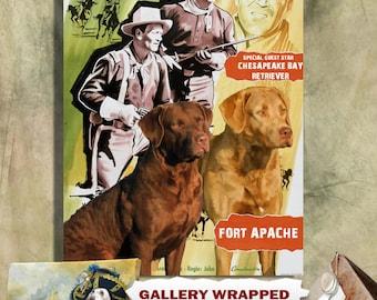 Chesapeake Bay Retriever Art Fort Apache Movie Poster