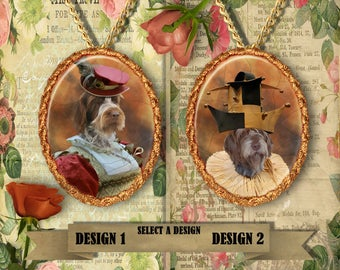 Wirehaired Pointing Griffon Jewelry Korthals Pointing Griffon Handmade Gifts by Nobility Dogs