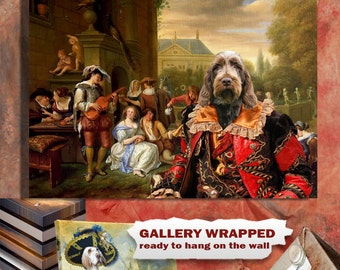 Italian Spinone Art CANVAS Print Fine Artwork  Dog Portrait Dog Painting Dog Art Dog Print  Perfect Dog Lover Gifts for Her Gifts for Him