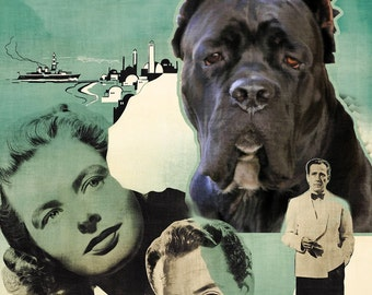 Cane Corso Art Casablanca Vintage Movie Poster by Nobility Dogs