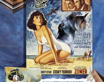 Cesky Terrier Art Suddenly Last Summer Movie Poster