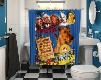 Irish Terrier Art Shower Curtain Dog Curtains Bathroom Decor