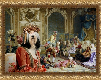 Tibetan Terrier Art Canvas Print Dog Lover  Gifts by Nobility Dogs