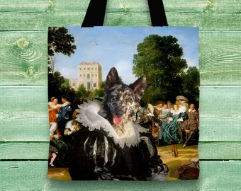 Mudi Art Tote Bag  by Nobility Dogs Arts