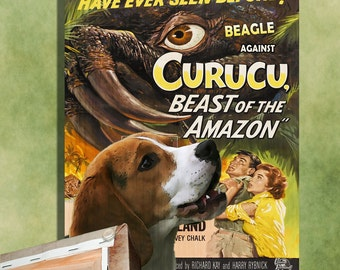 Beagle Art Curucu Vintage Movie Poster by Nobility Dogs