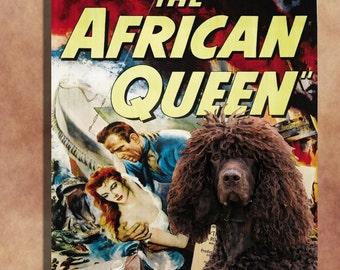 Irish Water Spaniel Art The African Queen Movie Poster