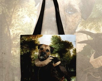 Border Terrier Art Tote Bag  by Nobility Dogs Arts
