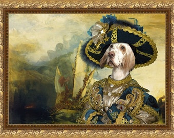 English Setter Art Canvas Print Dog Lover  Gifts by Nobility Dogs
