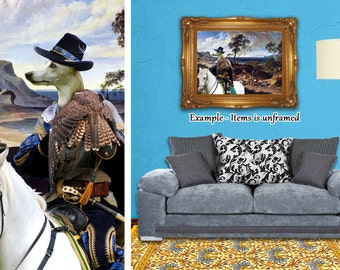 """Whippet Art """"The hunters return home"""" Canvas Print Dog Lover  Gifts by Nobility Dogs"""
