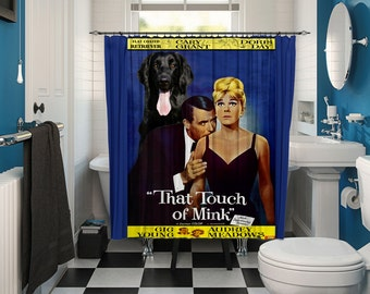 Flat Coated Retriever Art Shower Curtain, Dog Shower Curtains, Bathroom Decor  That Touch of Mink Movie Poster