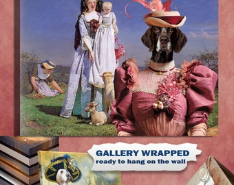 German Shorthaired Pointer Dog Art Canvas Print GSP Dog Lover Gifts by Nobility Dogs