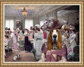 "Basset Hound Art Print ""The best hat"" by Nobility Dogs"