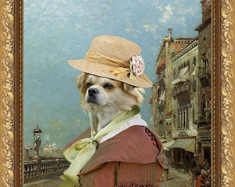 Tibetan Spaniel Art Canvas Print Dog Lover  Gifts by Nobility Dogs