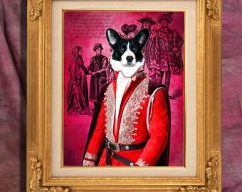 Welsh Corgi Cardigan Print Art Print 11 x 14 inch original illustration artwork giclee archival premium poster print