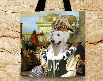 Kuvasz Art Tote Bag  by Nobility Dogs Arts