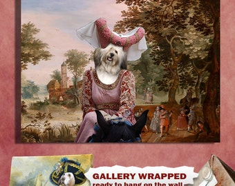 Havanese Dog Art Canvas Print Dog Lover  Gifts by Nobility Dogs