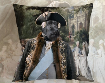 Christmas Gifts Dog Pillow Schnauzer Dog Lover  by Nobility Dogs Arts
