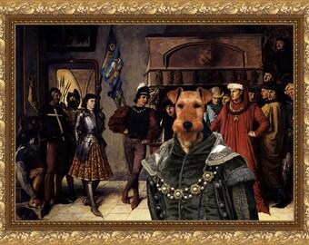 Welsh Terrier Art Welsh Terrier Gift Welsh Terrier Print Terrier Painting Welshie Custom Welsh Terrier Custom Dog Portrait