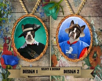 Boston Terrier Jewelry Handmade Pendant by Nobility Dogs