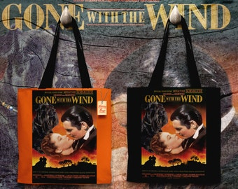 Miniature Schnauzer Art Tote Bag   Gone with the Wind Movie Poster    by Nobility Dogs