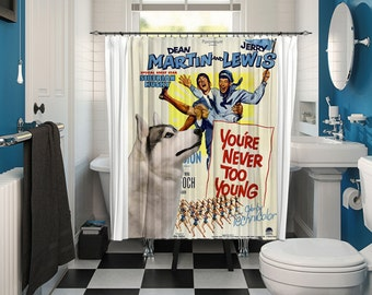 Siberian Husky Art Shower Curtain, Dog Shower Curtains, Bathroom Decor - You're Never Too Young Movie Poster