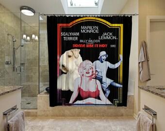 Sealyham Terrier Art Shower Curtain, Dog Shower Curtains, Bathroom Decor - Some Like It Hot Movie Poster